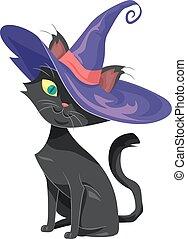 Witch Hat Cat Familiar Spirit