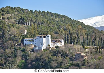 The Generalife Palace and Gardens - View of the Generalife...