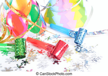 Party Items - party items photo on the white background