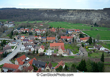 View of Saaleck town from fortress - View of Saaleck town...