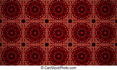 Mosaic in red color
