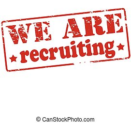 We are recruiting - Rubber stamp with text we are recruiting...