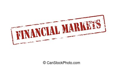Financial markets - Rubber stamp with text financial markets...