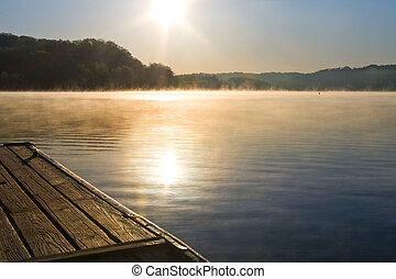 Lake with Dock - View from dock at Melton Hill Lake, Oak...