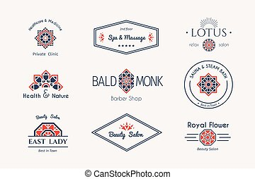 Vector asian logo templates - Asian health and beauty logo...