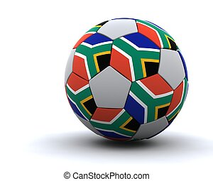 world cup football 2010 - 3D render of world cup football...
