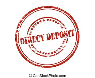Direct deposit - Rubber stamp with text direct deposit...