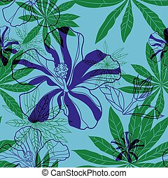 Vector seamless floral pattern - Vector seamless vintage...