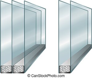 Element of window - glass - Vector technical illustration...
