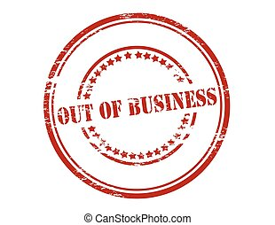 Out of business - Rubber stamp with text out of business...