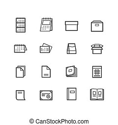 Printing icons. Paper icons. Printing Products icons. Design...