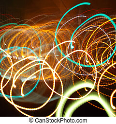 Chaotic tracks of flash lights - Chaotic involute tracks of...