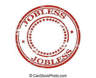 Jobless - Rubber stamp with word jobless inside, vector...