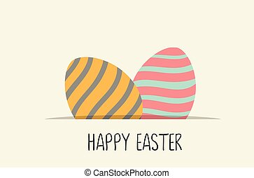 Happy Easter  card with Easter eggs.