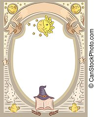 Magic Witch Oval Frame - Frame Illustration Featuring...