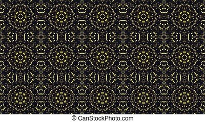 Mosaic in yellow and black colors
