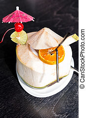 coconut water juice with orage