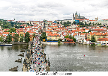 Pargue Czech Republic - Pargue, view of the Lesser Bridge...
