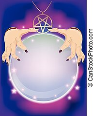 Tarot Hand Crystal Ball Fortune Tell