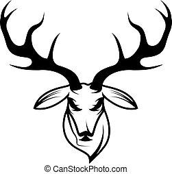 deer head vector design template