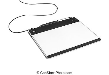 tablet on a white background