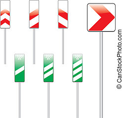 vector illustration of isolated european road signs