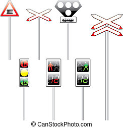 vector illustration of isolated european road signs - fully...