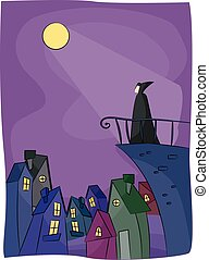 Vampire Terrace Moonlight Edge - Illustration of a Vampire...