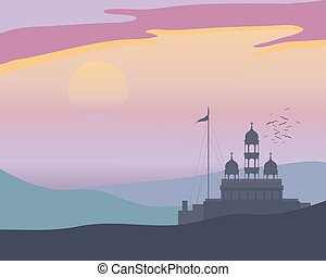 punjabi landscape - a vector illustration in eps 10 format...