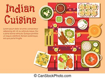 Indian cuisine dishes and snacks - Indian national cuisine...