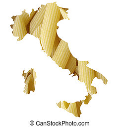 Italian food - Typical italian food in Italy map...