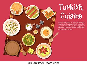 Turkish cuisine food and desserts - Turkish cuisine dishes...