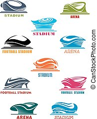 Sports stadiums and arena icons