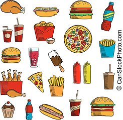 Takeaway and fast food snacks
