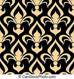 Royal french seamless fleur-de-lis pattern