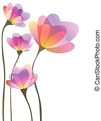 Spring abstract flowers design