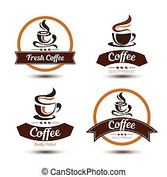 coffee label - coffee badges and label design icon set ,...