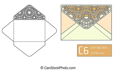 Lase Envelope Template A - Vector Illustration of Envelope...