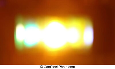 Flashing lights in blur - Artistic style - Defocused urban...