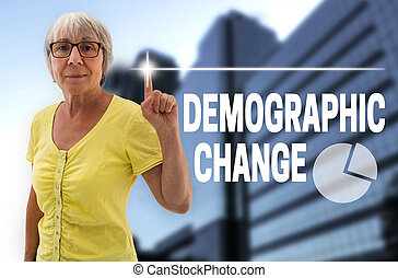 demographic change touchscreen is shown by senior.