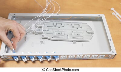Optic Patch Panel - Optical Patch Panel, preparing for the...