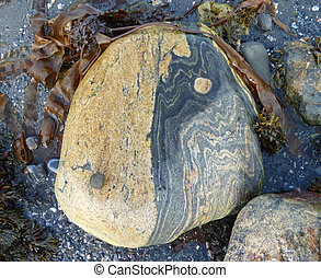 Rock Yin Yang - A view of a helped natural rock Yin Yang