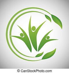 Eco icon design - Eco concept with natural icon design,...
