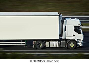 camión,  semi, camino