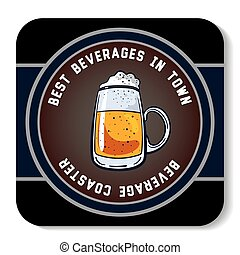 Square Beverage Coaster Color - Square beverage coaster...
