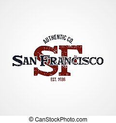 san francisco varsity theme vector art illustration