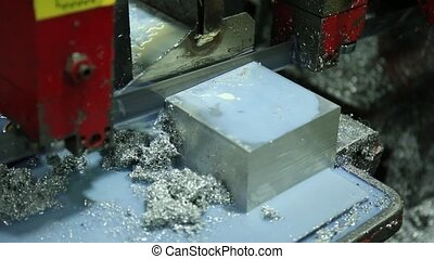 Cutting Aluminum on Bandsaw - Cutting Aluminum Flat Bar on...