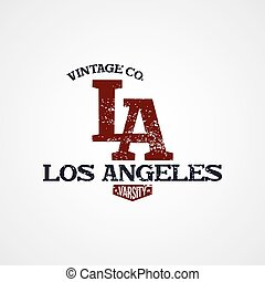 los angeles varsity theme vector art illustration