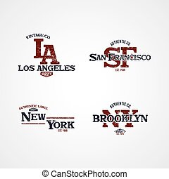 new york varsity theme vector art illustration