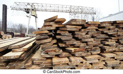 Wood stock timber board video